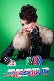 Face do póquer Fotos de Stock Royalty Free