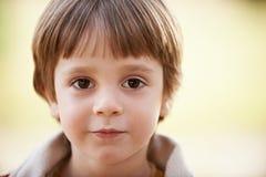 Face do rapaz pequeno Imagem de Stock Royalty Free