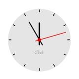 Face do relógio. ilustração do vetor