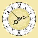 Face do relógio antiga ilustração stock