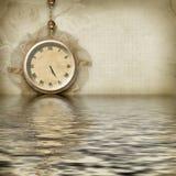 Face do relógio antiga refletida ilustração royalty free