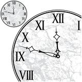 Face do relógio com numerais romanos ilustração stock