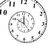 Face do relógio com um efeito espiral ilustração stock