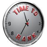 face do relógio da ilustração 3D com tempo do texto classificar ilustração royalty free