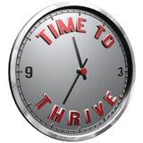 face do relógio da ilustração 3D com tempo do texto prosperar ilustração do vetor