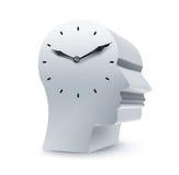 Face do relógio do negócio Fotos de Stock Royalty Free