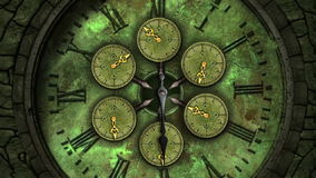 Face do relógio Loopable de tiquetaque do vintage ilustração royalty free