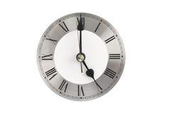 Face do relógio que mostra 5 horas Imagem de Stock