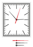 Face do relógio retangular Imagens de Stock Royalty Free