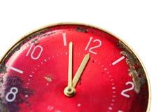 Face do relógio velha envelhecida foto de stock