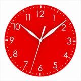 Face do relógio vermelha ilustração do vetor