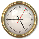 Face do relógio simples clássica com as setas nos fundos brancos Fotografia de Stock Royalty Free
