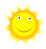 Face do símbolo do sol dos desenhos animados Foto de Stock