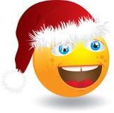 Face do smiley do Natal Foto de Stock