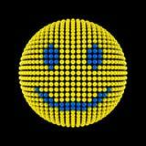Face do smiley dos pontos ilustração do vetor
