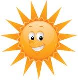 Face do sol dos desenhos animados ilustração royalty free