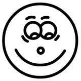 Face do sorriso ilustração stock