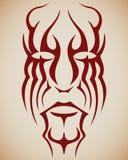 Face do tatuagem ilustração royalty free