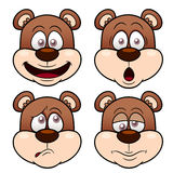 Face do urso dos desenhos animados Foto de Stock Royalty Free