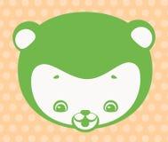 Face do urso engraçado Ilustração do Vetor