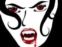 Face do vampiro ilustração stock