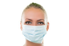 Face of a doctor woman wearing hospital mask Stock Photography