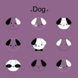 Face dog cartoon  Royalty Free Stock Image