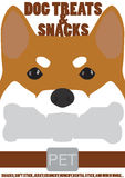 Face dog treats and snacks pet Stock Photos