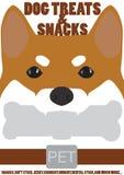 Face dog treats and snacks pet. Face dog shiba inu treats and snacks pet Stock Photos