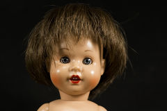 Face Of A Doll. Antique Face Of A Doll stock image