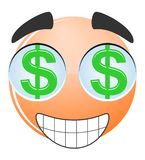 Face dollar cartoon Royalty Free Stock Photography
