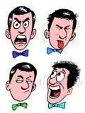 Face dos desenhos animados ilustração do vetor