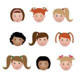 Face dos miúdos - menina ilustração royalty free
