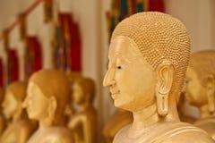 A face dourada de buddha Imagem de Stock