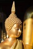 A face dourada de Buddha Imagem de Stock Royalty Free