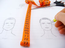 Face drawing Stock Photo