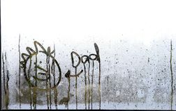 Face drawn in condensation Royalty Free Stock Photo