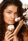 Face e algodão Fotos de Stock Royalty Free