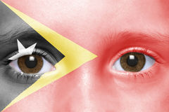 Face with east timor flag Stock Image