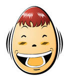 Face of egg Stock Photography
