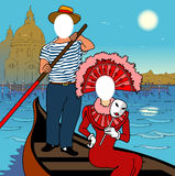 Face em um furo. Veneza. ilustração do vetor