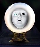 Face em uma esfera olhando Fotos de Stock Royalty Free