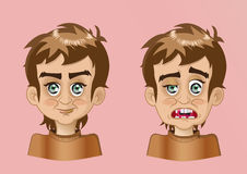 Face emotion. Cartoon faces. Vector clip art illustration stock illustration