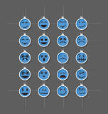 Face-emotion-icon. Vector paper set face emotion Royalty Free Stock Photo