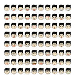 80 face emotions Royalty Free Stock Photos