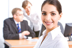 Face of employee Stock Image