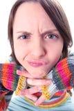 Face engraçada da menina Foto de Stock Royalty Free