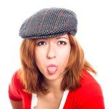 Face engraçada da mulher foto de stock royalty free