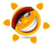 Face engraçada do smiley Fotografia de Stock Royalty Free