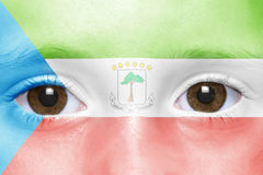 Face with equatorial guinea flag Royalty Free Stock Photos